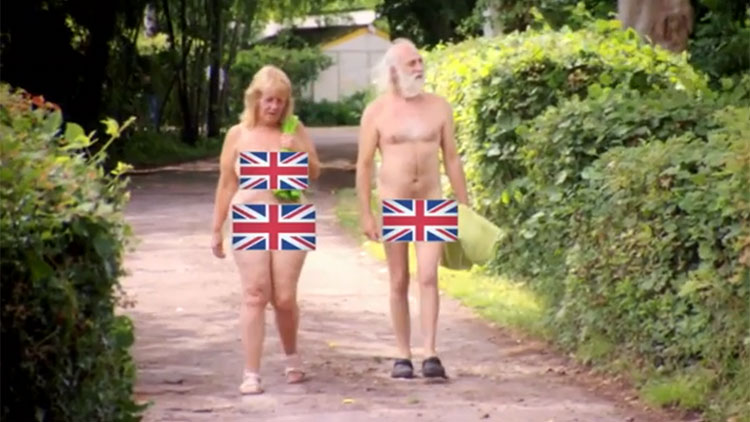 A village in Britain, where people do not wear clothes