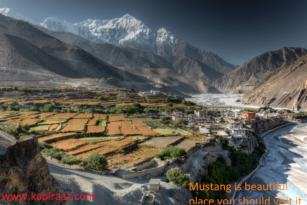 Mustang is beautiful place you should visit it