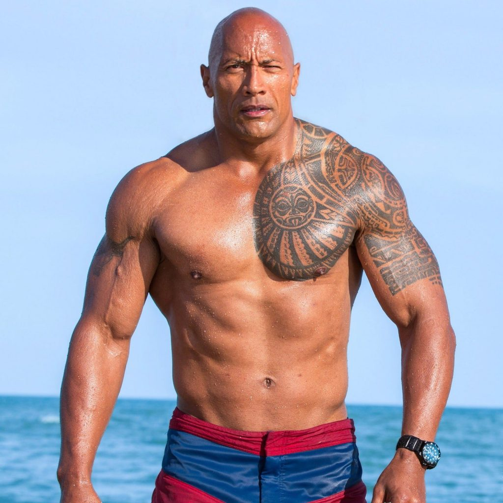 """16. Dwayne Johnson """"The Rock"""" enlisted as highest paid actor for second year in a row."""